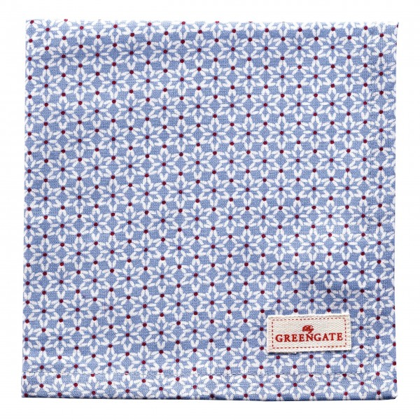 "GreenGate Stoffserviette ""Juno"" (Blue)"
