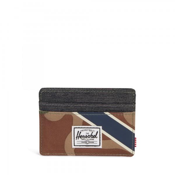 """Herschel """"Charlie Wallet"""" Kreditkartenetui (Grau/Camouflage)"""