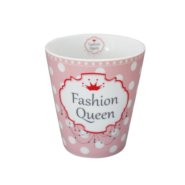 "Krasilnikoff Happy Mug ""Fashion Queen"" (Rosa)"