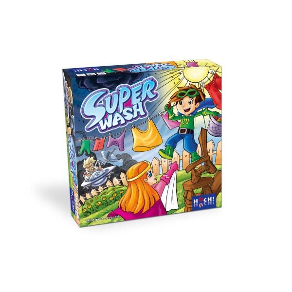 """Superhelden-Spiel """"Super Wash"""" - Der Spielspaß für 2-4 Kinder ab 6 Jahre"""
