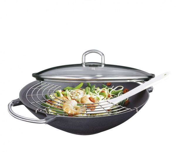 Mit dem Küchenprofi Wok-Set Premium sind Sie bestens ausgerüstet um gesund und lecker zu kochen.