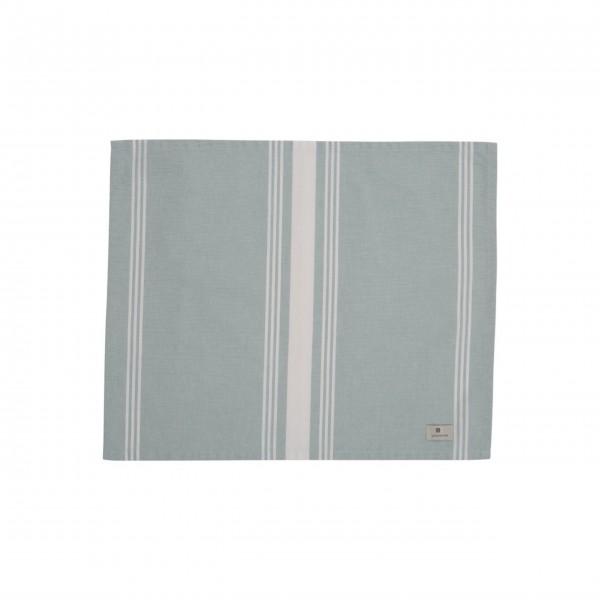 Lexington gestreiftes Tischset 40x50cm (Weiß / Grün)