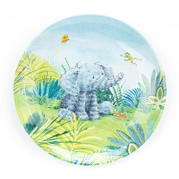 "Jellycat Teller aus Melamin ""Elefant"" (Blau)"