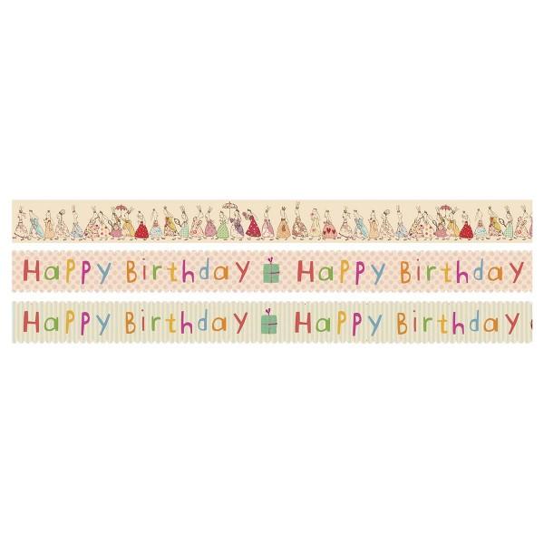 Happy Birthday - tolle Geschenkbänder zum Kleben!