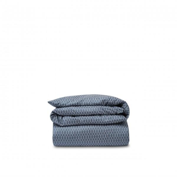 """Lexington Bettwäsche Bettdeckenbezug aus Baumwoll-Satin """"Wabe"""" - 135x200 cm (Blau/Weiß)"""
