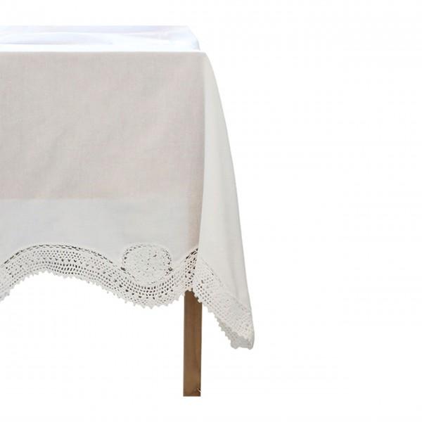 """Tischdecke """"Crocheté"""" (Weiß) von Chic Antique"""