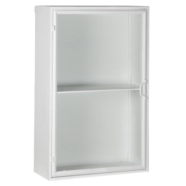 Cleaner, cooler Wandschrank aus Metall & Glas von Ib Laursen, in weiß.