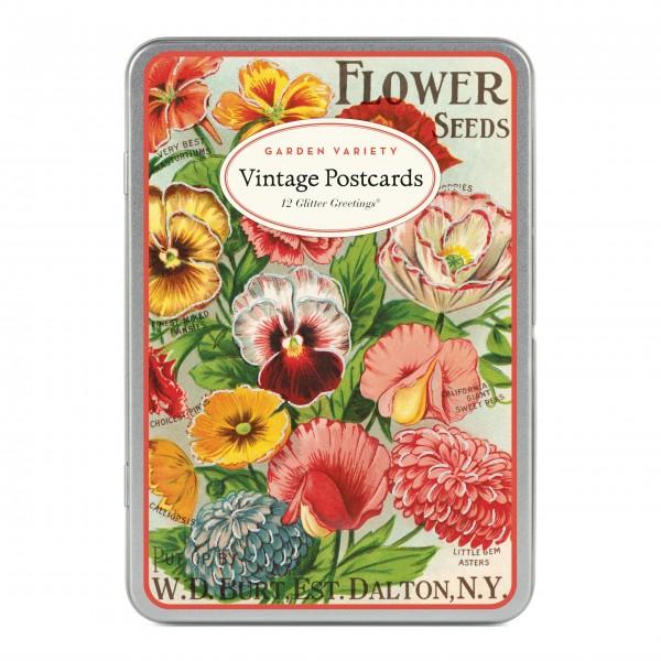 "Cavallini Postkarten ""Garden Variety"" - 12 Stck."