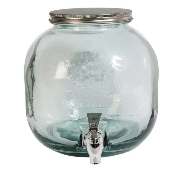 Runder Getränkespender aus Glas