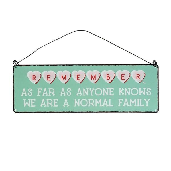 Metallschild für die ganze Familie!