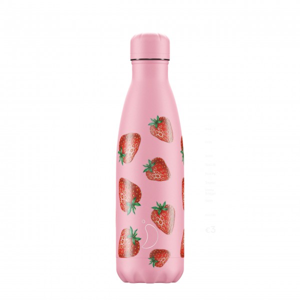 """CHILLY'S Bottle Isolierflasche """"Strawberry"""" - 500 ml"""