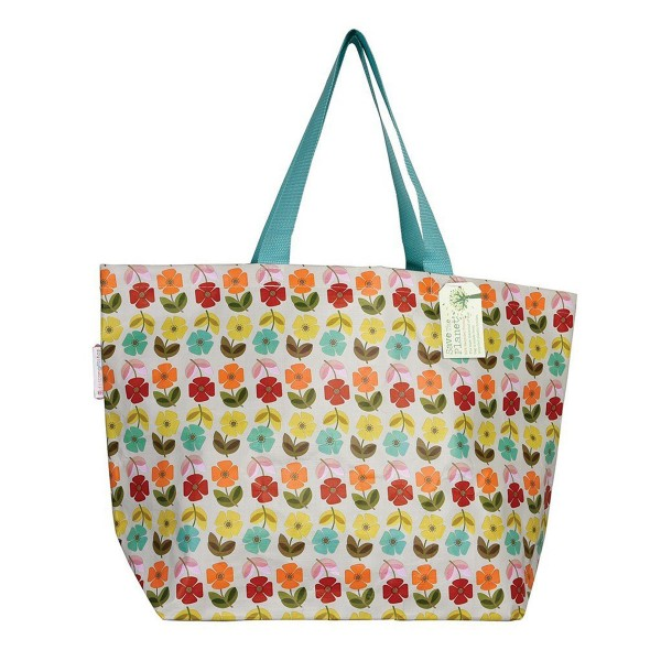 """Einkaufstasche """"Retro Flower"""" aus recyceltem Kunststoff"""