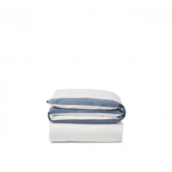 """Bettwäsche Bettdeckenbezug - Baumwoll-Satin """"Streifen"""" - 135x200 cm (Blau/Weiß) von Lexington"""