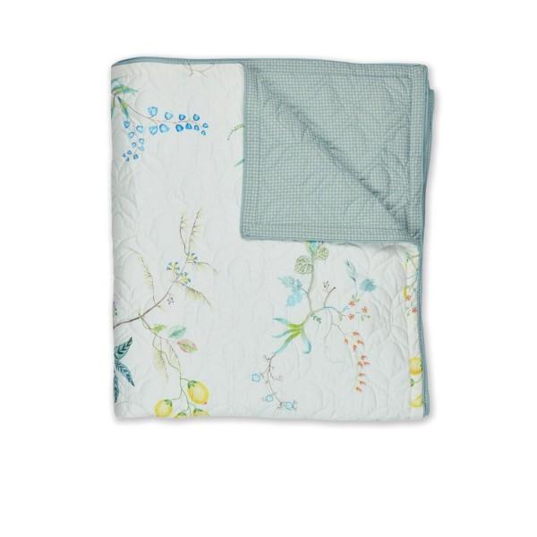 "Pip Studio Quilt ""Fleur Grandeur"" - 150x200cm (Weiß)"