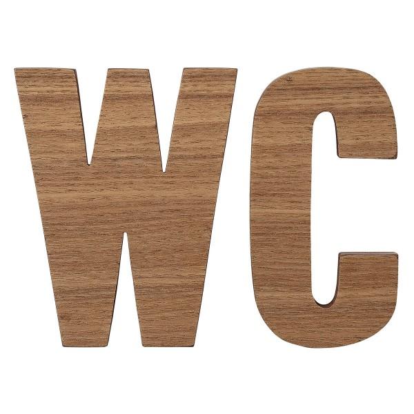 """Bloomingville Holzbuchstaben """"WC"""" im 2er Set"""