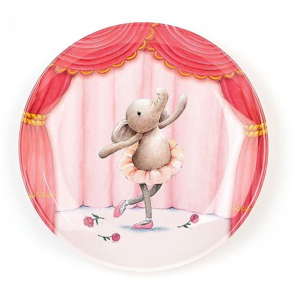 "Jellycat Teller aus Melamin ""Elly Ballerina"" (Pink)"