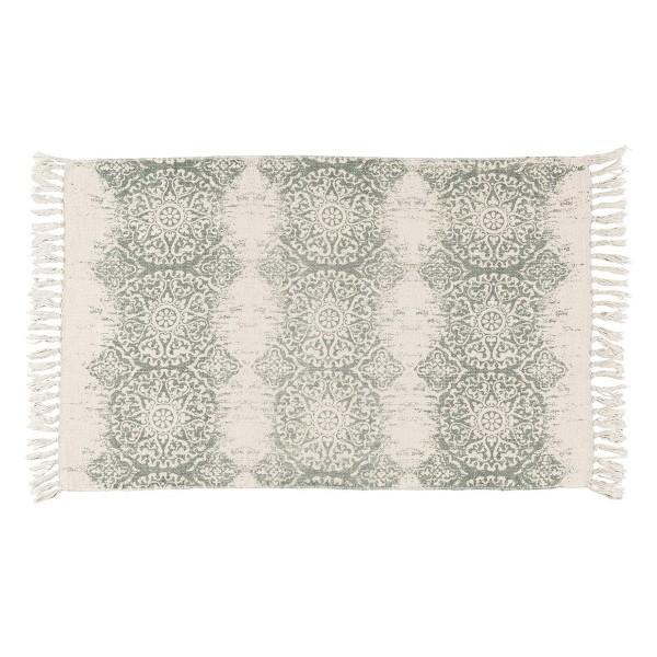 Teppichmatte mit Boho-Mustern in grün, von Ib Laursen