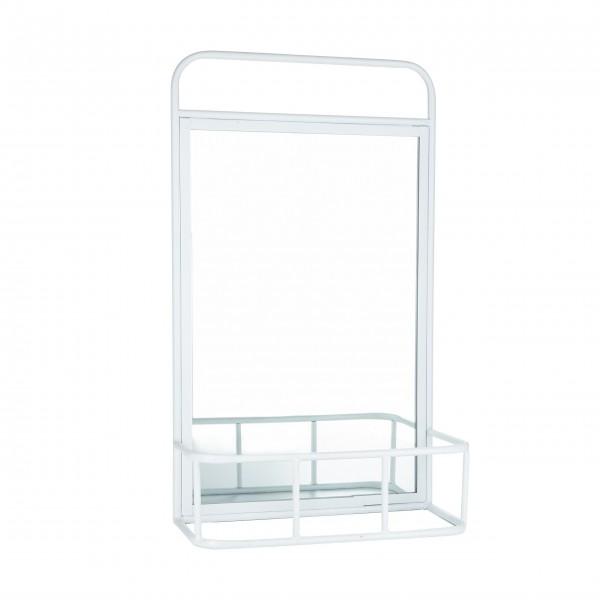 Spiegel mit Regal (Weiß) von Bahne