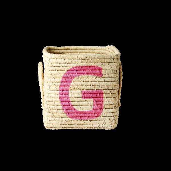 """Rice Aufbewahrungskorb """"Letters"""" - klein"""