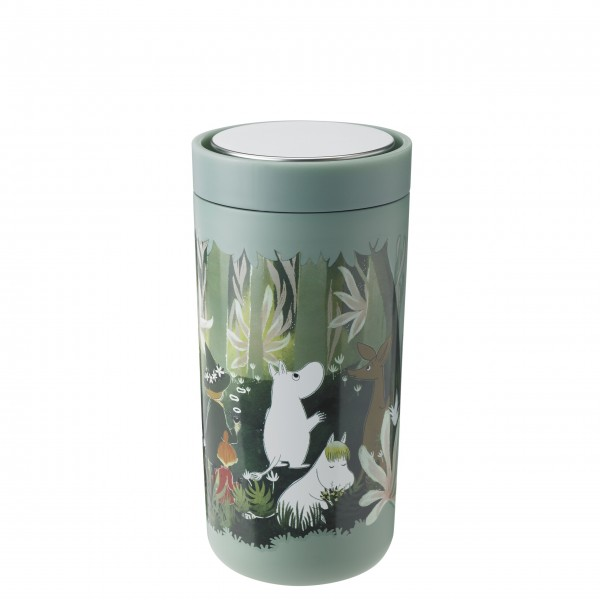 "Stelton Thermobecher ""To-Go Click"" - 400 ml (Dunkelgrün Moomin)"
