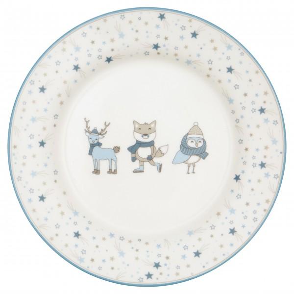 """Lebkuchen und Plätzchen schmecken besonders gut mit dem GreenGate Kinder-Teller """"Forrest"""" (Pale Blue)"""