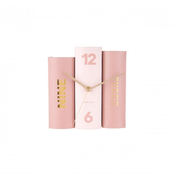 "Present-Time-Tischuhr-""Book""-(Rosa)-KA5730-1"