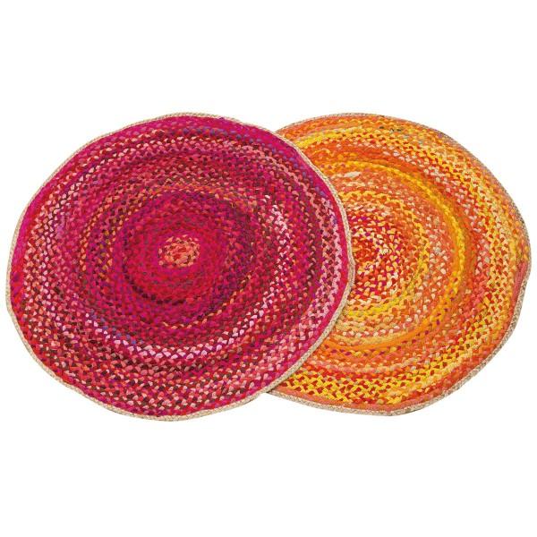 Knallige Farben für gute Sommerlaune - Teppich in Pink oder Gelb
