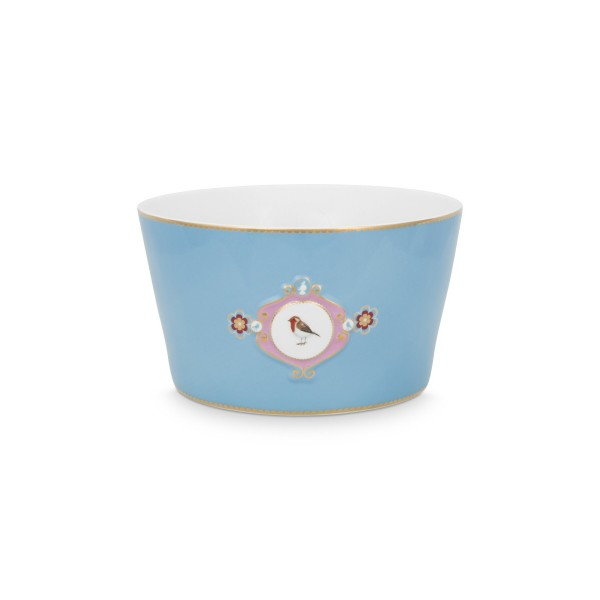 "Pip Studio Schale ""Love Birds - Medallion"" - 20 cm (Blau)"