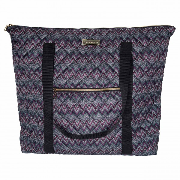 Große Reisetasche im hübschen ZickZack-Muster