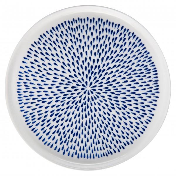 """Ib Laursen Porzellan-Frühstücksteller """"Delicate"""" (Weiß/Blau)"""