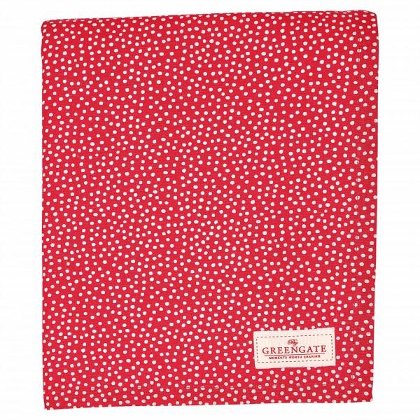 Rote Tischdecke mit weißen Punkten: von GreenGate