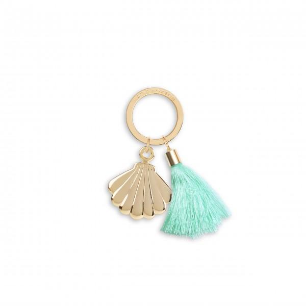 """Schlüsselanhänger """"Muschel"""" (Mintgrün) von KATIE LOXTON"""