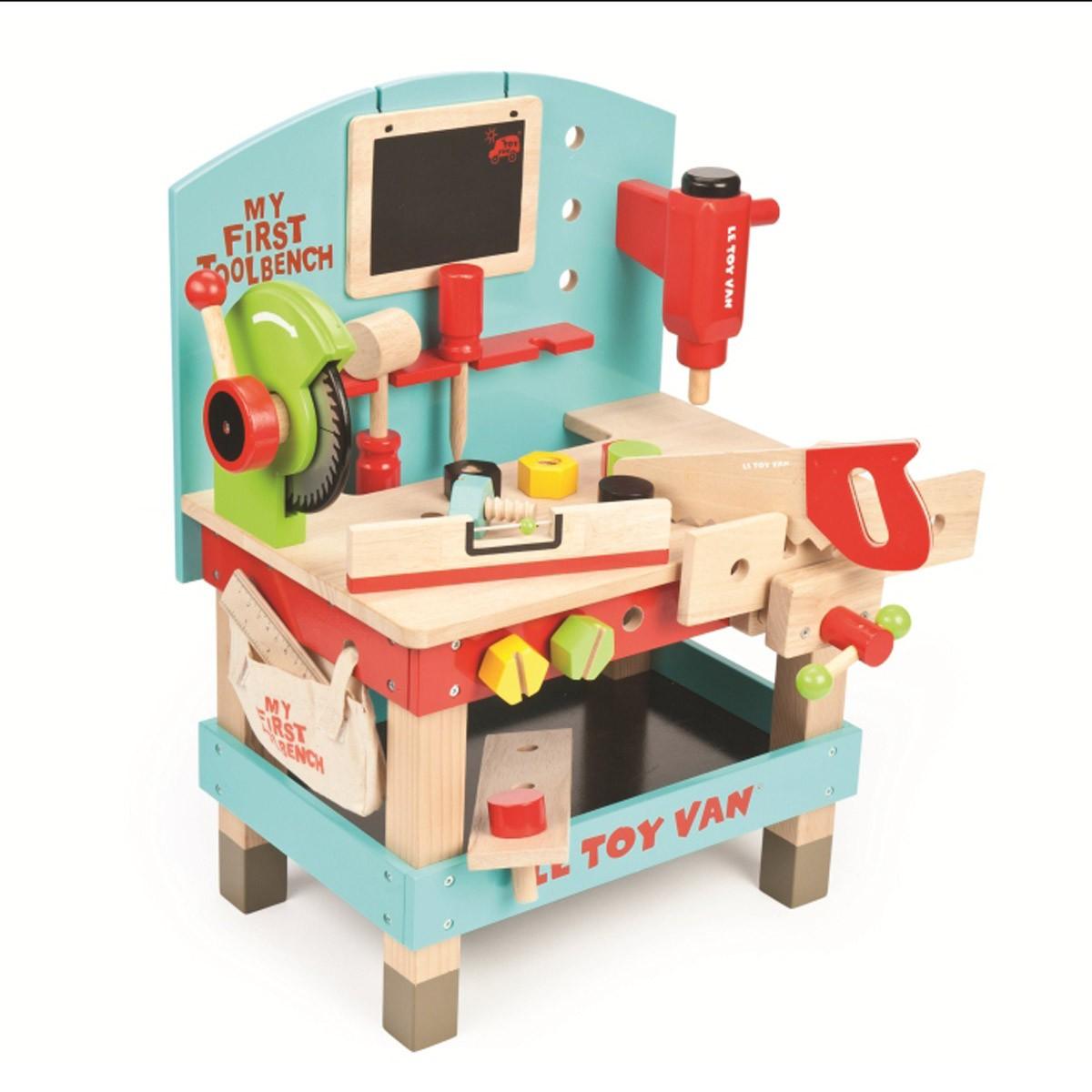 Werkbank für Kinder aus Holz - Nostalgie im Kinderzimmer