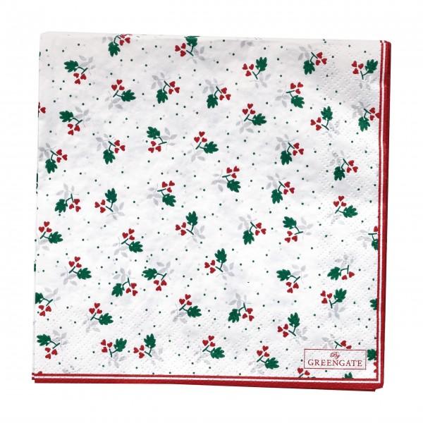 """GreenGate Papierservietten """"Joselyn"""" (White)"""
