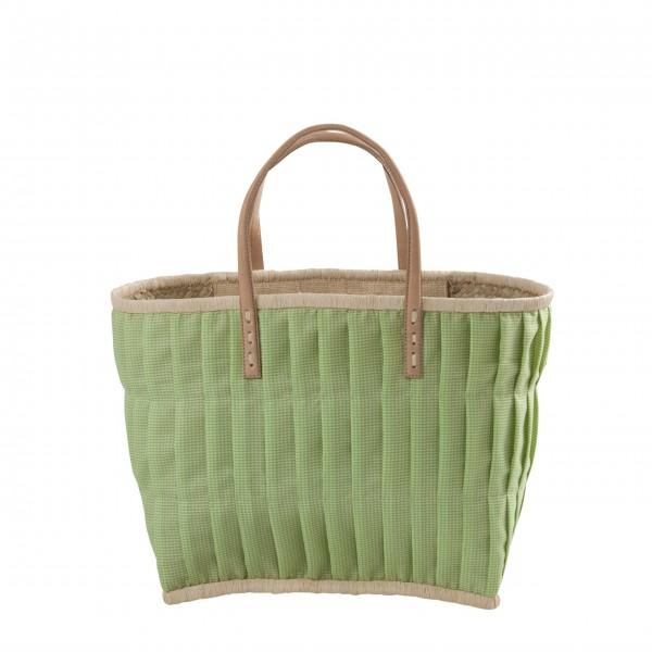 rice Korbtasche aus Raffia - Medium (Grün)