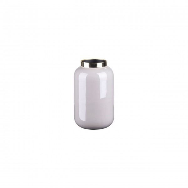 "Vase ""Saigon"" - XS (Cool Grau/Gold) von Gift Company"