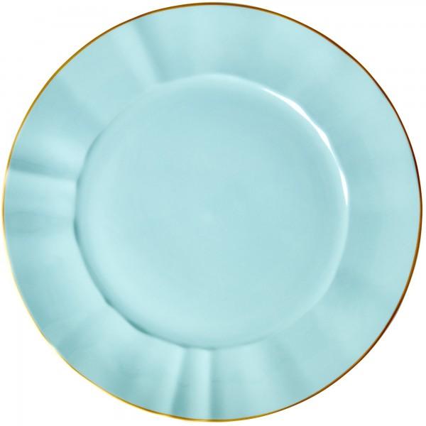 Formschöner, organischer Teller aus Porzellan - von Rice