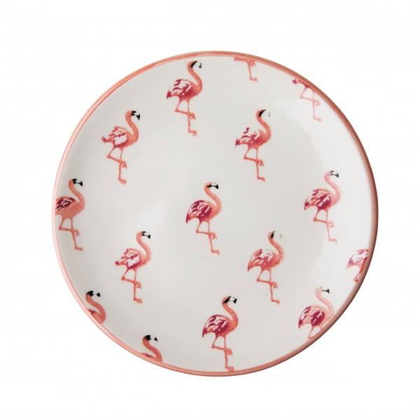 Kleiner, aber oho - Der Keramikteller mit Flamingos von Rice