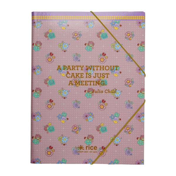 "Rice Sammelmappe Flower Stitch"" (DIN A4)"