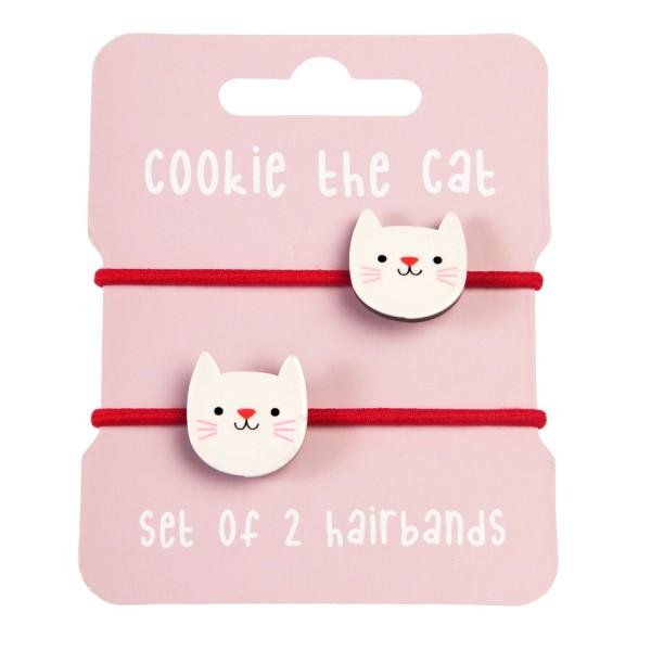 """Haargummis """"Cookie the Cat"""" von Rex LONDON - 2er-Set"""