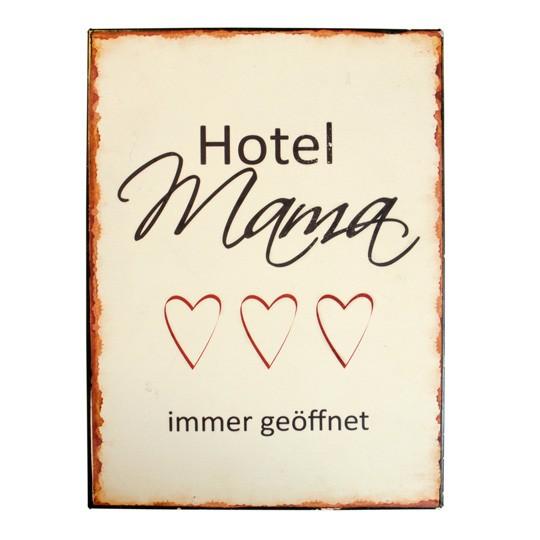 """Ib Laursen Metallschild """"Hotel Mama"""