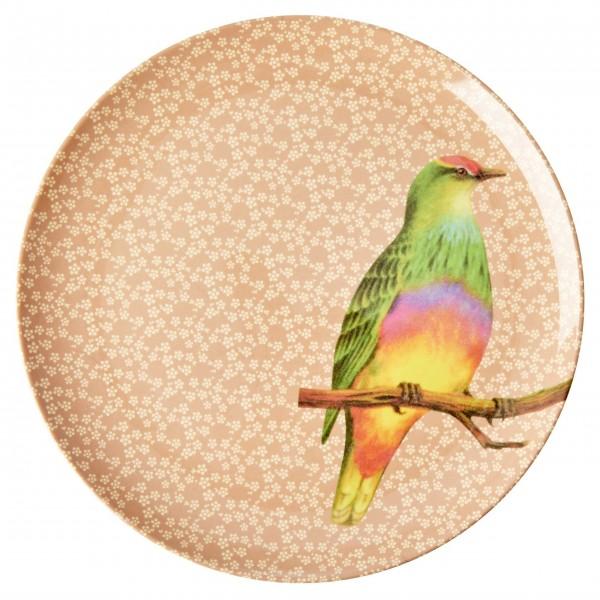 """Ein echter Vintage-Traum: der Rice Melamin Essteller """"Vintage Bird"""" (Nougat)"""
