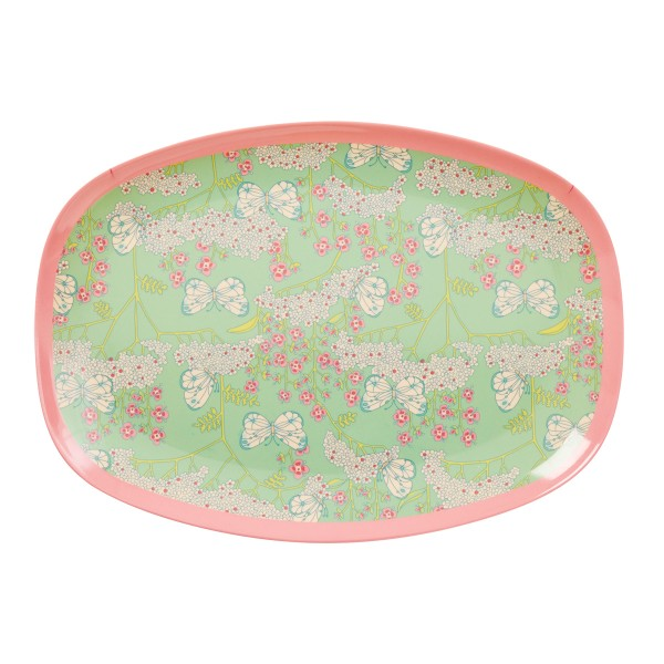 Malerisch schöne Platte aus Melamin, von Rice natürlich!