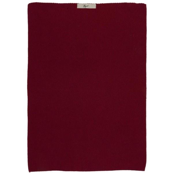 """Ib Laursen Handtuch gestrickt """"Mynte"""" - (Rot)"""