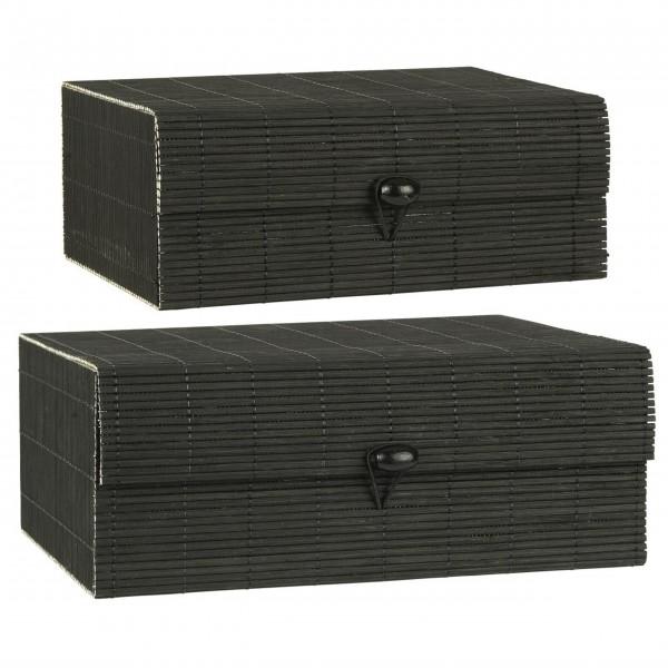 Ib Laursen Schachtel im 2er-Set - Bambus (Schwarz)