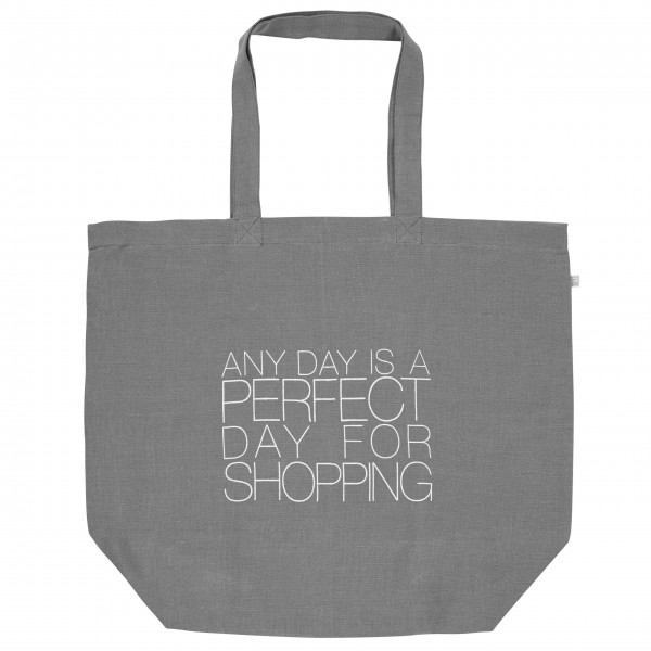 "Einkaufstasche ""Any day is a perfect day for shopping"" grün von räder Design"
