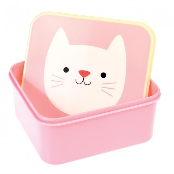 Rosane Katzen-Brotzeitdose für Ihre Kleinen
