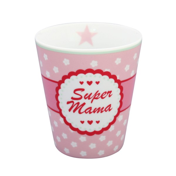 "Krasilnikoff Happy Mug ""Super Mama"" (Rosa)"