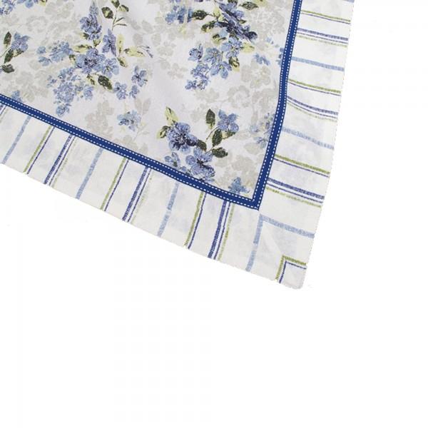 "Country Home Style Tischdecke ""Iris"" (blau/weiß) 100x100cm"