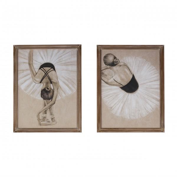 """Bilder im 2er-Set """"Ballerina"""" von Chic Antique"""